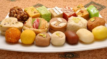 Sweet dishes offered at Indian restaurants
